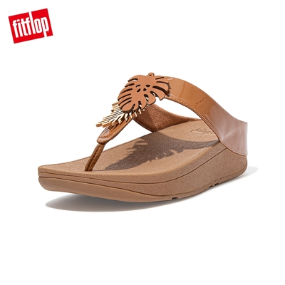FitFlop FINO JUNGLE LEAF TOE-POST SANDALS熱帶葉飾夾腳涼鞋-女(淺褐色)