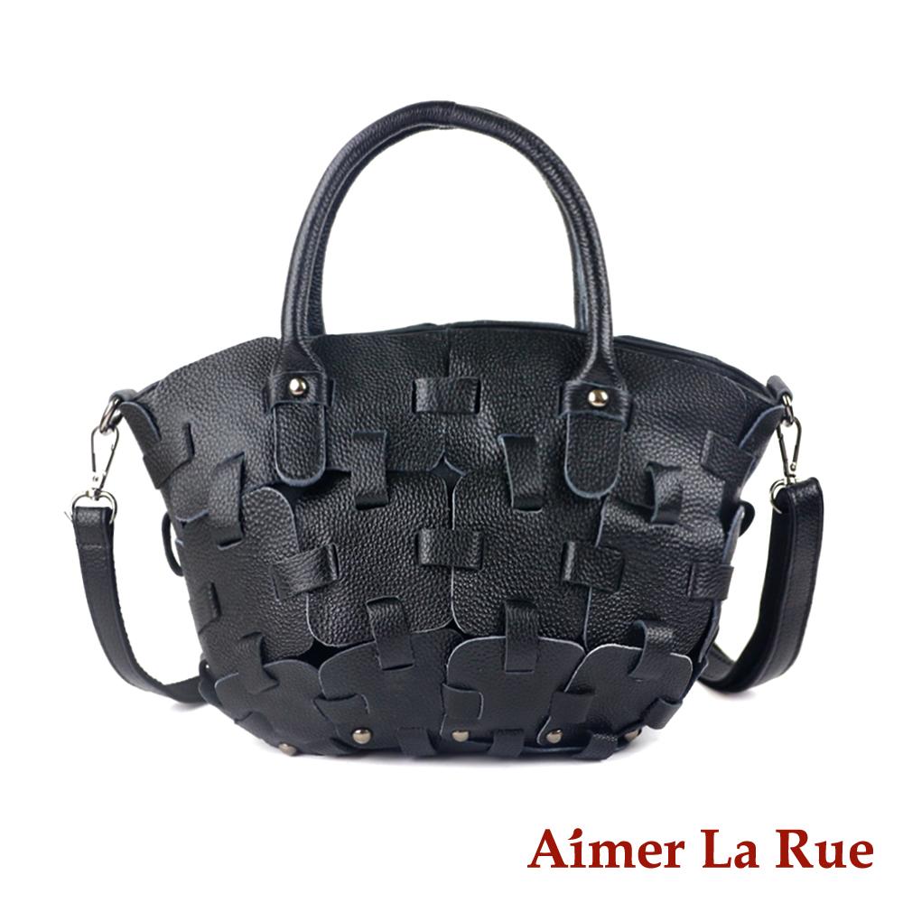 Aimer La Rue 手提側背包 真皮潮流拼接系列(二色)