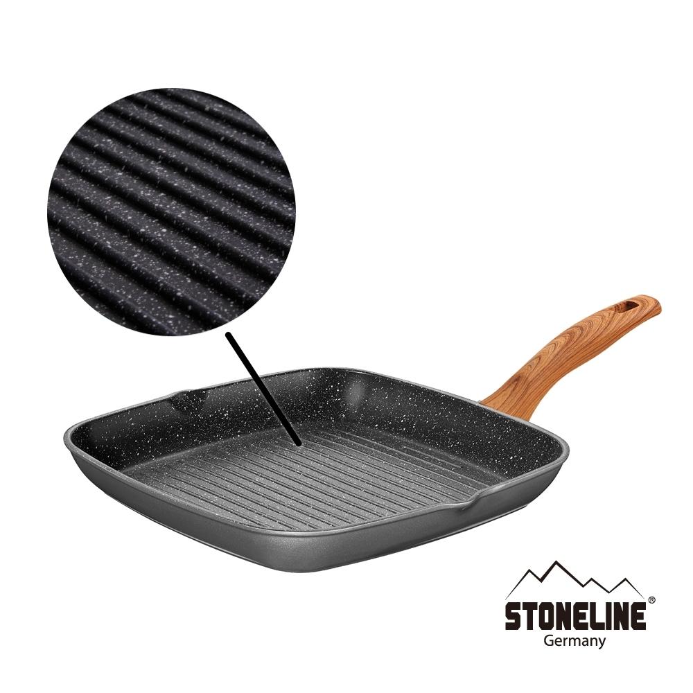德國STONELINE回歸自然系列 牛排方煎鍋28cm