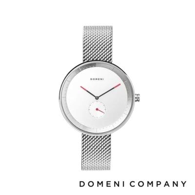 DOMENI COMPANY 經典系列 316L不鏽鋼單眼錶 銀色錶帶 -白/32mm