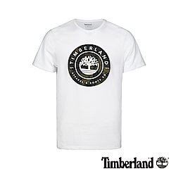 Timberland 男款白色大樹LOGO潮流短袖T恤|A1W5C