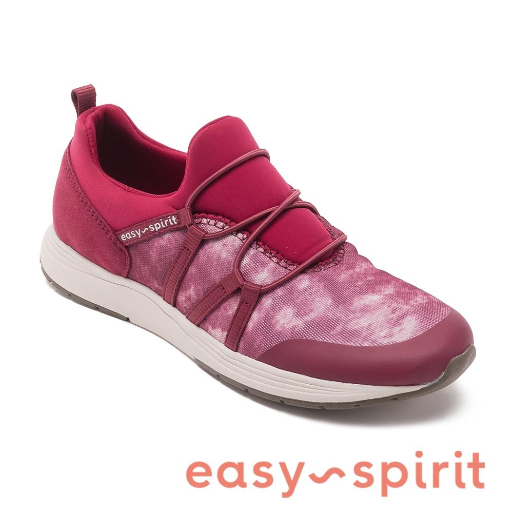 easy spirit-LUANNE2 渲染布面套穿運動休閒鞋-桃紅色
