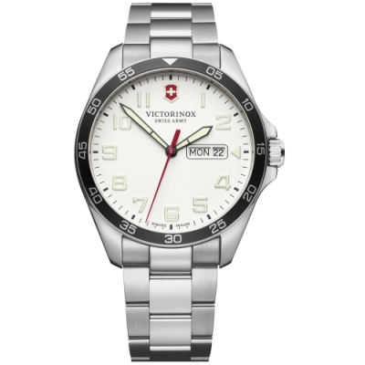 VICTORINOX瑞士維氏Fieldforce時尚手錶(VISA-241850)-白
