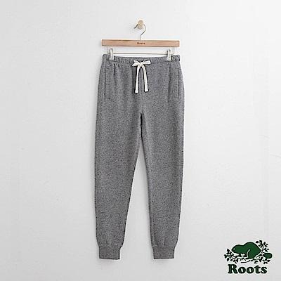 Roots-女裝-休閒縮口棉褲灰