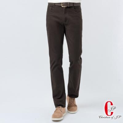 Christian  流行曲線牛仔款彈性長褲_橄欖綠(HW808-3)
