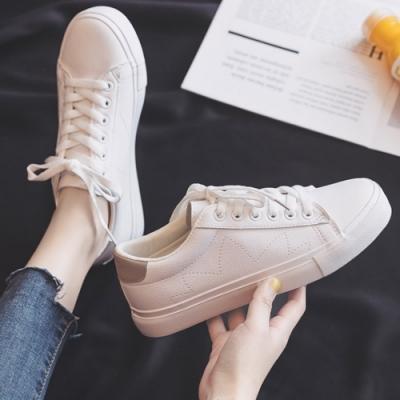 韓國KW美鞋館 時尚甜心活力首選素色小白鞋-灰