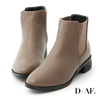 D+AF 型人必備.尖頭低跟切爾西短靴*灰