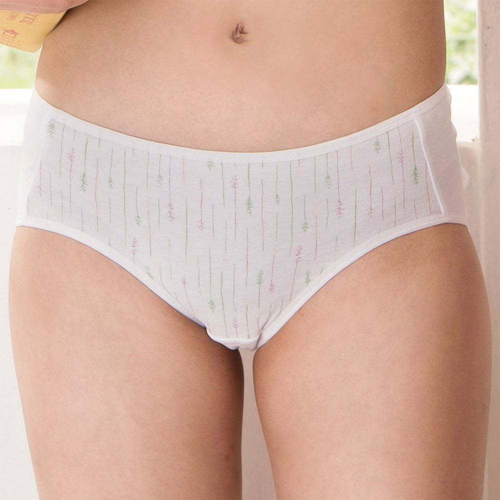 嬪婷-環保系列有機棉 M-LL 低腰三角褲(粉芋)環保素材