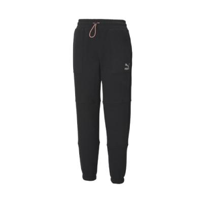 Puma 長褲 Interstellar Pants 女款 蔡依林款 內刷毛 保暖 可調鬆緊 簡約 黑 白 53030201