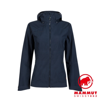 【Mammut 長毛象】Convey Tour HS Hooded Jacket GTX 防水連帽外套 海洋藍 女款 #1010-27850