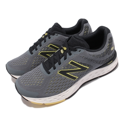 New Balance 慢跑鞋 680 V6 Wide 寬楦 男鞋 紐巴倫 路跑 緩震 耐磨膠底 運動休閒 灰 白 M680RG6-2E