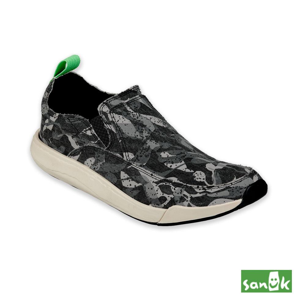 SANUK CHIBA QUEST FUNK迷彩風格休閒鞋-中性款(黑白)