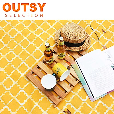 【OUTSY嚴選】限量款輕量印花野餐墊 金盞迪斯可