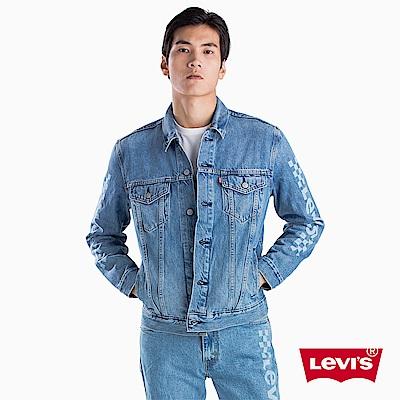 Levis 男款 牛仔外套 Type 3 經典修身版型 棋盤紋Logo印花