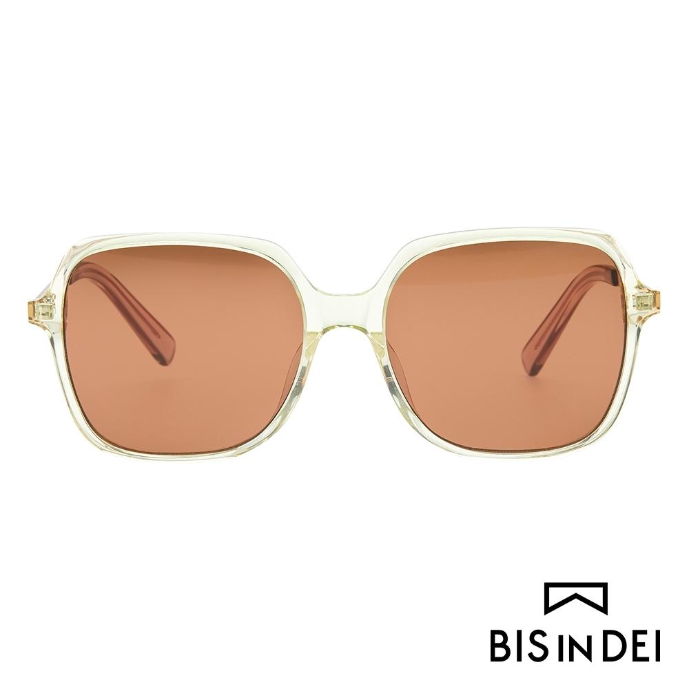BIS IN DEI 簡單大方框太陽眼鏡-透