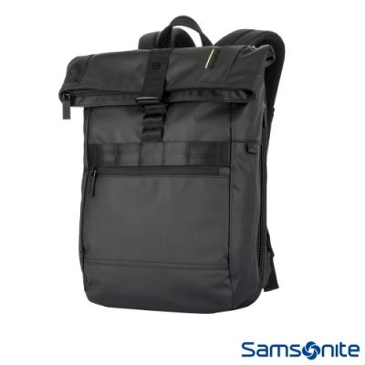 (6/1 10:00 ~6/21 10:00 送超贈點500) Samsonite新秀麗 Vangarde上開式RFID防竊筆電後背包(黑)