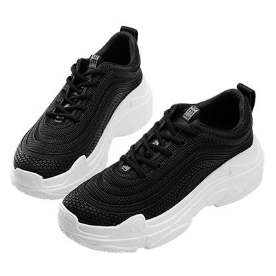 Robinlo & Co.潮流指標異材質運動休閒鞋 黑色