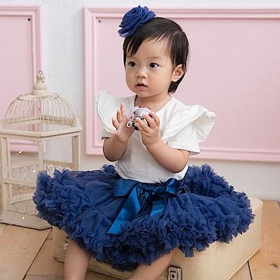 日安朵朵 女嬰童雪紡蓬蓬裙 - 海洋之心