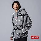 Levis 男款 口袋帽T Oversize 個性黑白迷彩 迷你刺繡Logo