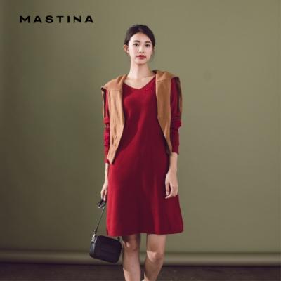 【MASTINA】花卉刺繡長版-針織衫(三色)