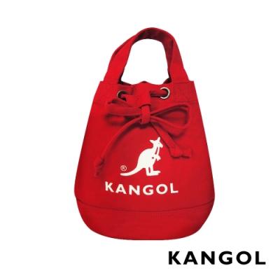 KANGOL 韓版玩色系列-帆布斜背水桶包-多色任選 AKG
