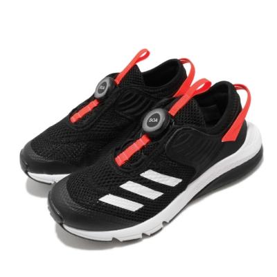 adidas 慢跑鞋 ActiveFlex Boa 運動休閒 童鞋 愛迪達 BOA旋鈕鞋帶系統 透氣 中童 黑 紅 FV3450