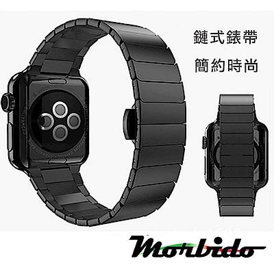 Morbido蒙彼多 Apple Watch 44mm鍊式不鏽鋼錶帶