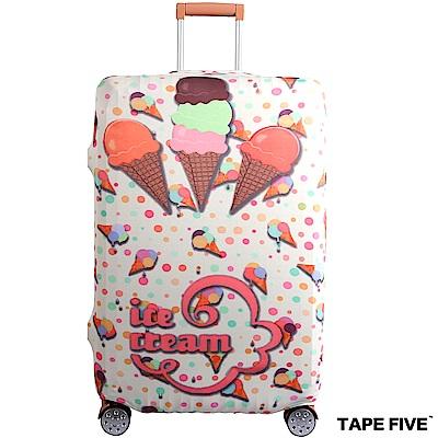 Tape Five 高彈性行李箱套-夢幻冰淇淋 (適用27-29吋行李箱)