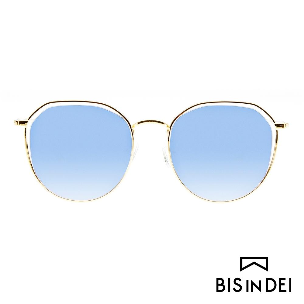 BIS IN DEI 簡約中性鏤空框太陽眼鏡-金