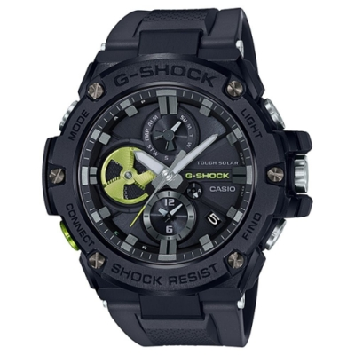CASIO卡西歐 G-SHOC藍芽連線指針錶 (GST-B100B-1A3)