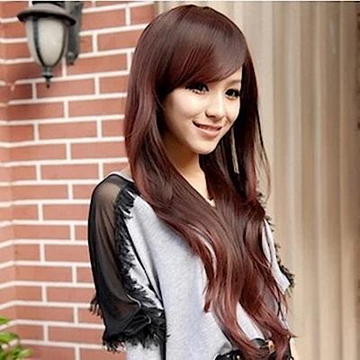 米蘭精品 女假髮整頂長假髮-斜瀏海大波浪微捲女美髮用品3色69o31