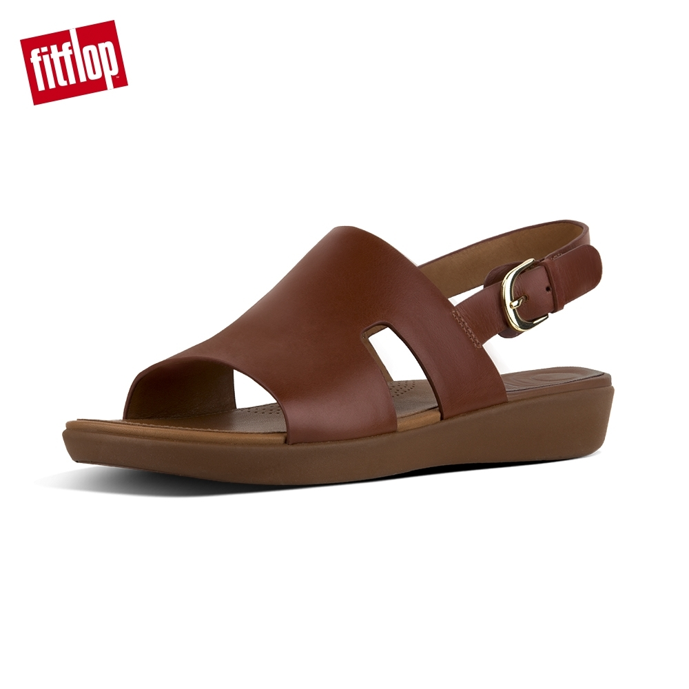 FitFlop H-BAR BACK-STRAP SANDALS 焦糖色