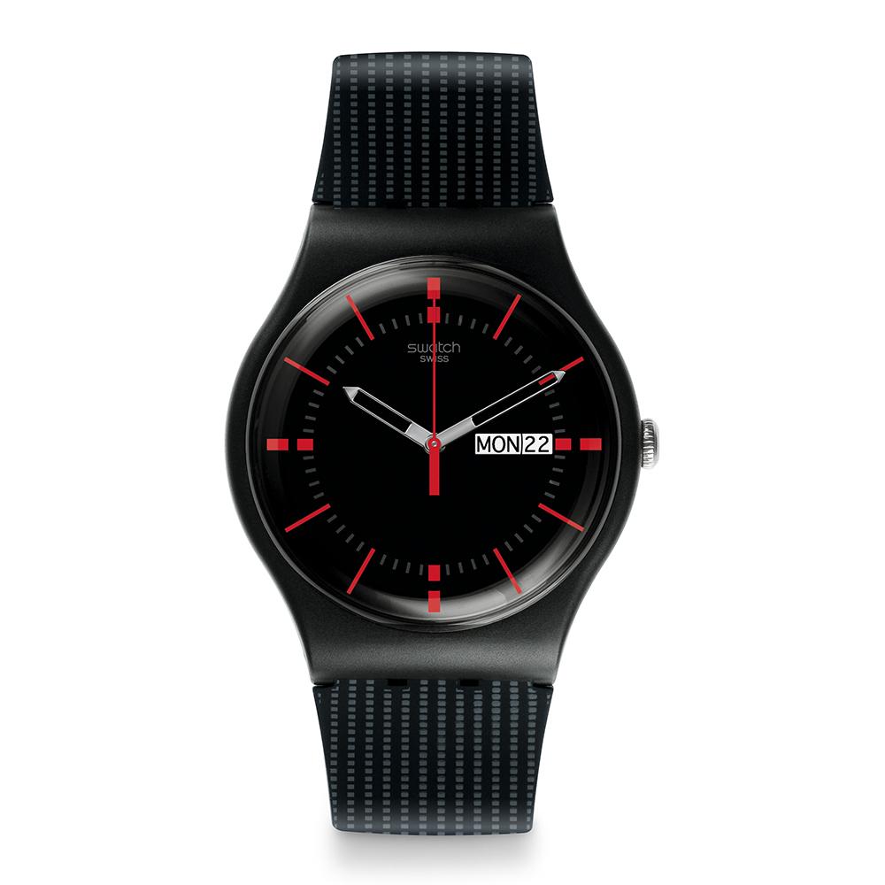 Swatch 原創系列 GAET 黑色鈕扣手錶