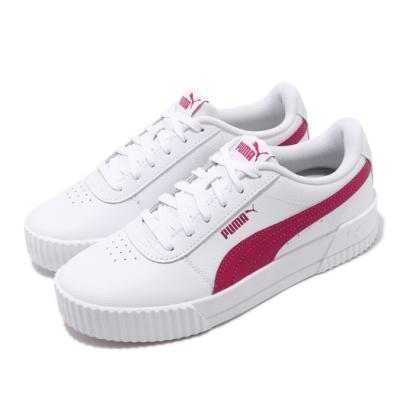 Puma 休閒鞋 Carina L 運動 女鞋 基本款 簡約 皮革 穿搭 舒適 球鞋 白 粉 37032513
