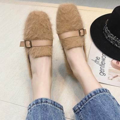 KEITH-WILL時尚鞋館 韓式女神百搭平底鞋 駝