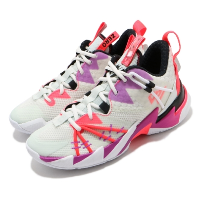Nike 籃球鞋 Why Not Zer03 運動 女鞋 喬丹 避震 包覆 明星款 大童 球鞋 白 紫 CN8107101