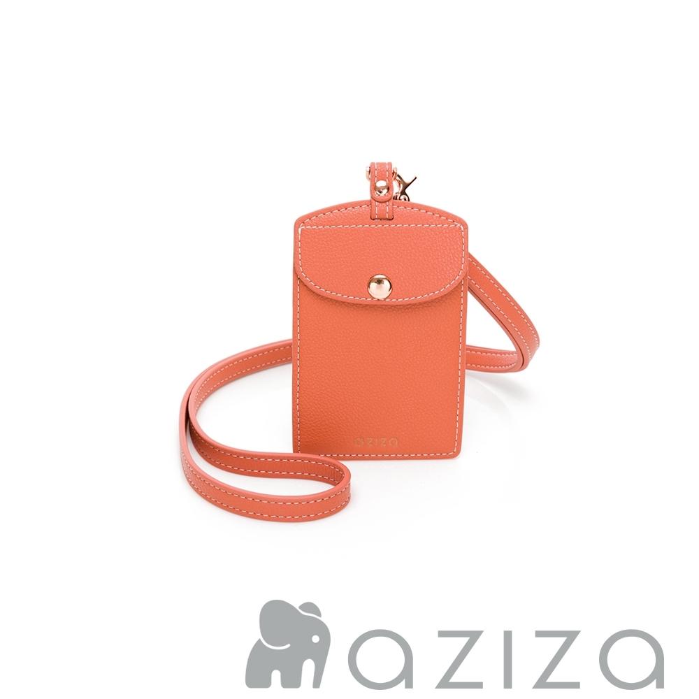 aziza 直式證件套 珊瑚紅