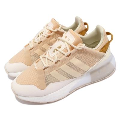 adidas 休閒鞋 ZX 2K Boost Pure 女鞋 愛迪達 透視鞋面 網格 流行款 米 白 S42634