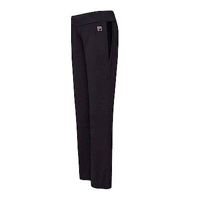 FILA 女萊卡針織長褲-黑色 5PNT-1609-BK