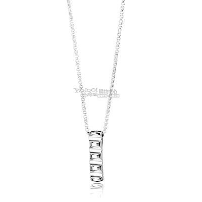 TIFFANY&Co. 律動波紋長型925純銀項鍊