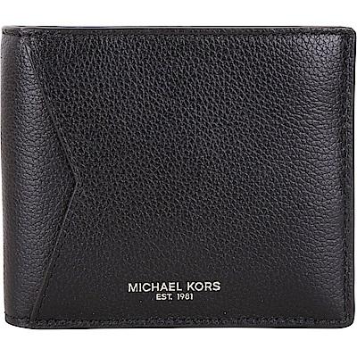 Michael Kors Bryant 荔紋牛皮八卡短夾(黑色)