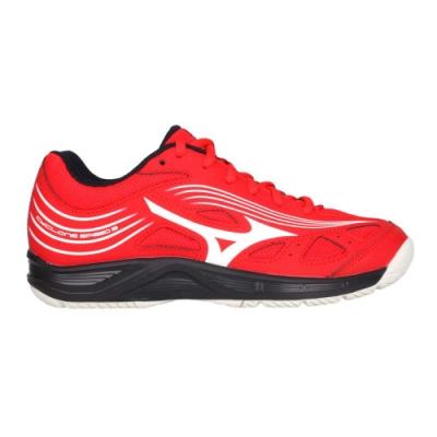 MIZUNO CYCLONE SPEED 3 男女排球鞋-運動 訓練 美津濃 V1GA218063 紅白黑