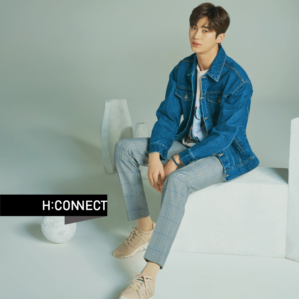 H:CONNECT 韓國品牌 男裝-雙口袋車線造型牛仔外套-藍 @ Y!購物