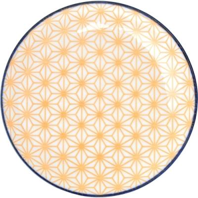 《Tokyo Design》圖騰淺餐盤(橘16cm)