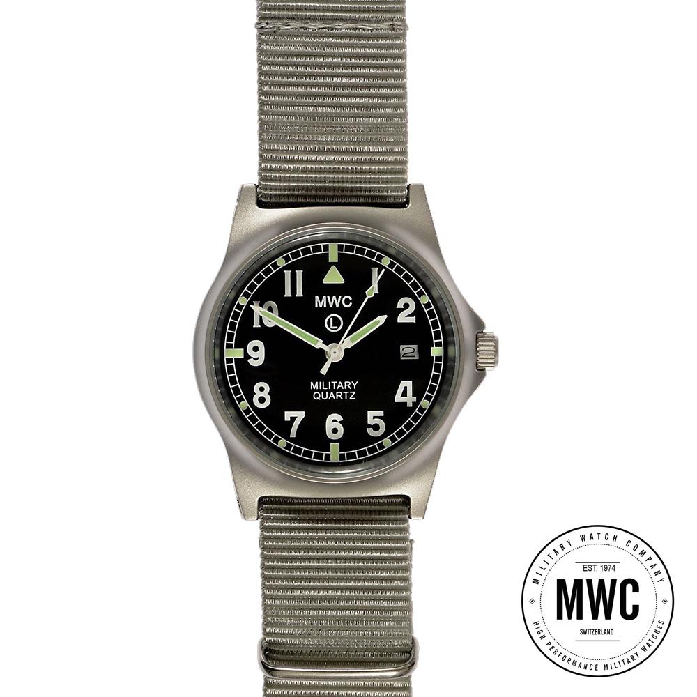 MWC瑞士軍錶 G10LM 步兵系列 灰藍色 軍事設計錶 -黑色/35mm