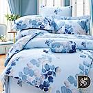 DESMOND岱思夢 雙人 100%天絲兩用被床包組 卉影-藍