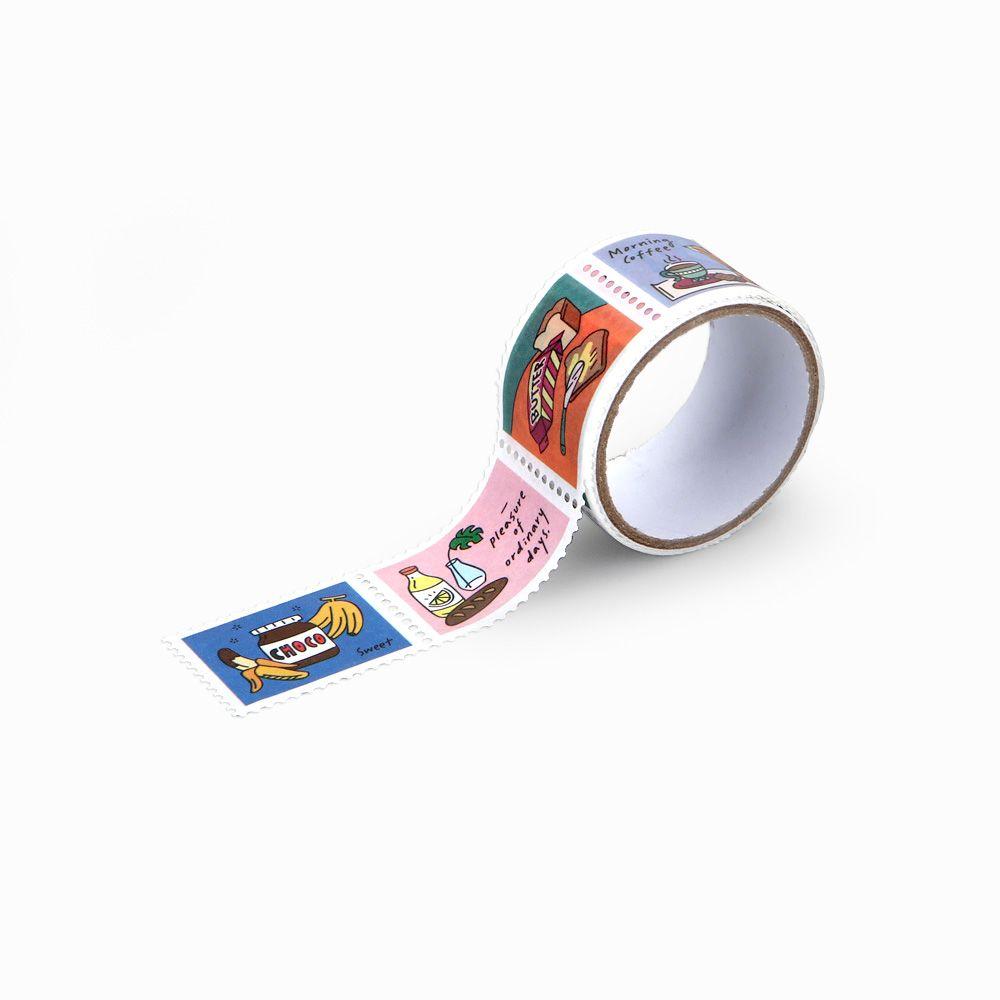 Dailylike 郵票造型紙膠帶(單捲)-18 早安日好