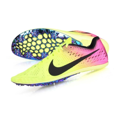 NIKE ZOOM VICTORY ELITE 2-男女限量田徑釘鞋-中長距離  競賽 835998999 螢光黃黑粉
