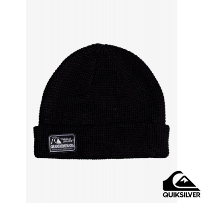 【QUIKSILVER】LOCAL BEANIE PATCH 毛帽 黑