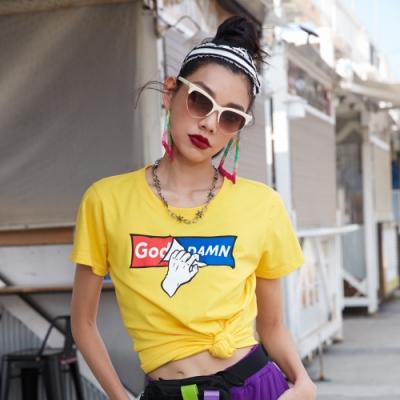 UDOU God Damn 短袖T恤(黃)